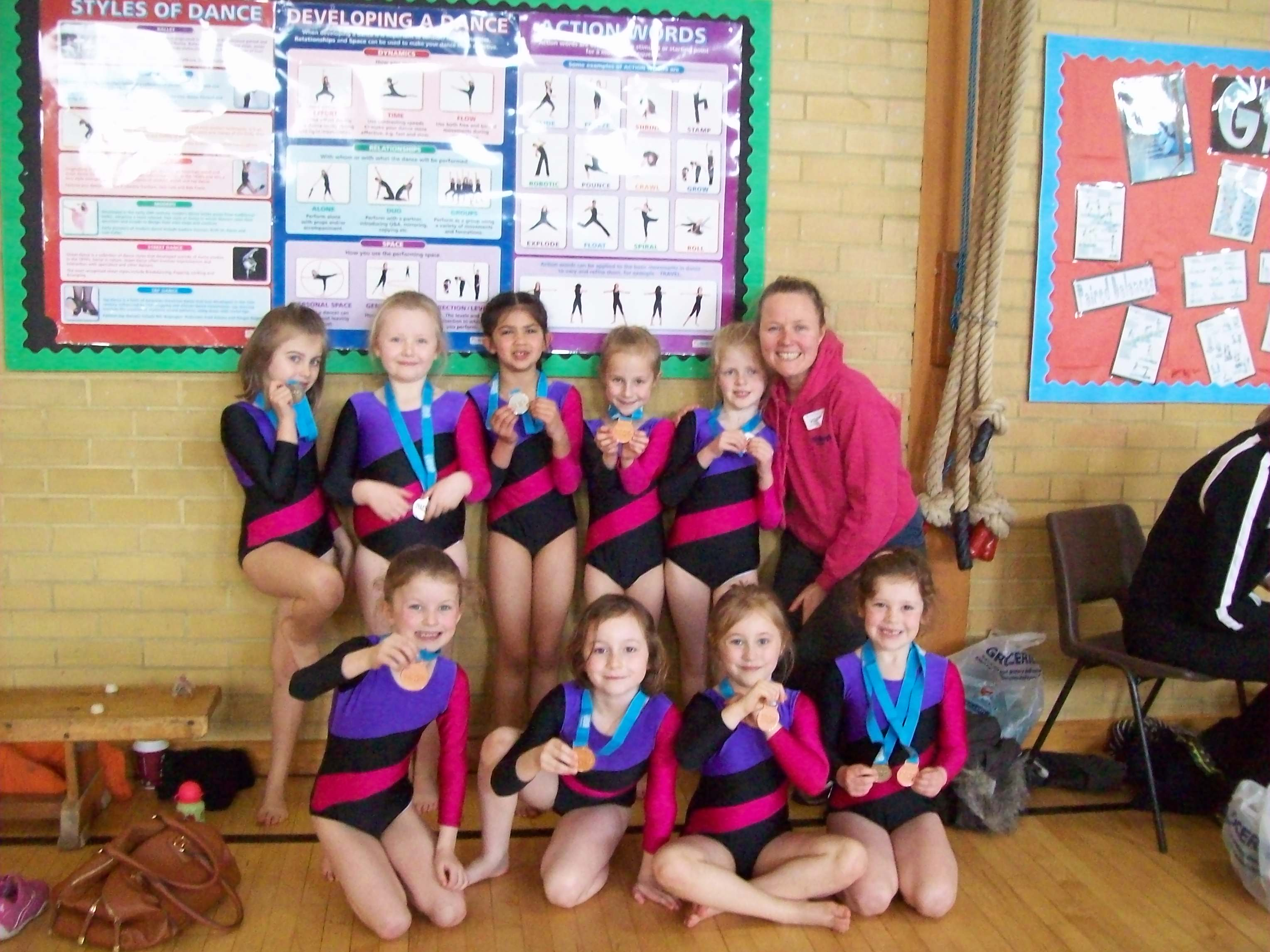 Silver and Bronze for our little gymnasts!